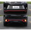 Накладки на передний и задний бампер для Toyota Highlander 3 Рестайлинг 2016-19