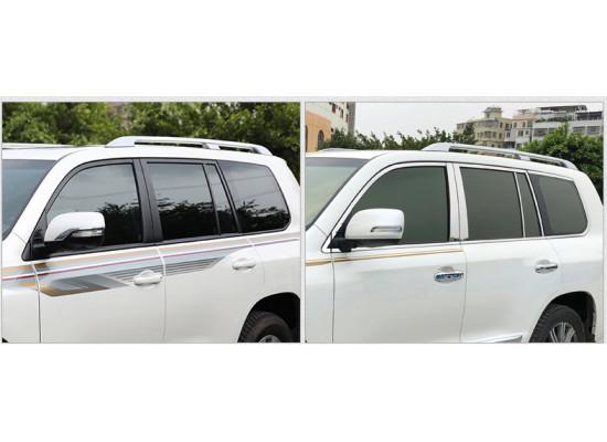 Хромированные накладки на окна для Toyota Land Cruiser 200 2007-н.в. (фото)