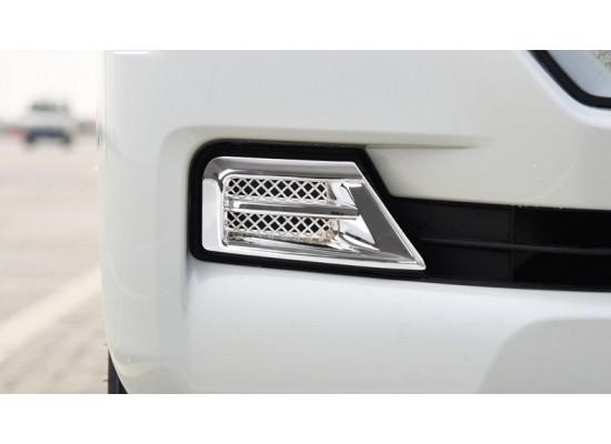 Накладки на передние противотуманки для Toyota Land Cruiser 200 Рестайлинг 2 2015-н.в.