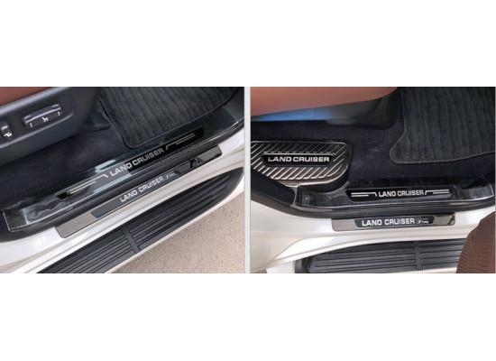Накладки на пороги для Toyota Land Cruiser 200 2007-н.в. (фото)