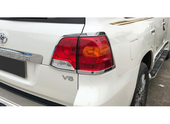 Накладки на задние фары для Toyota Land Cruiser 200 Рестайлинг 1 2012-15 (фото)