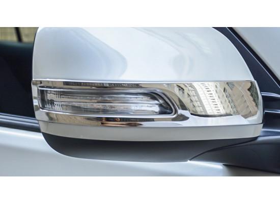 Накладки на зеркала для Toyota Land Cruiser 200 Рестайлинг 1 2012-15. (фото)