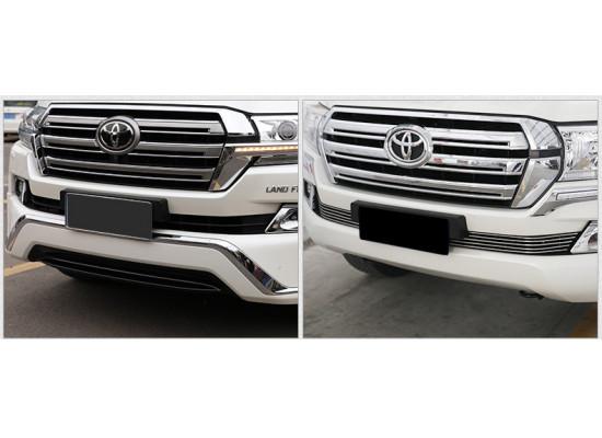 Нижняя решетка для Toyota Land Cruiser 200 Рестайлинг 2 2015-н.в. (фото)