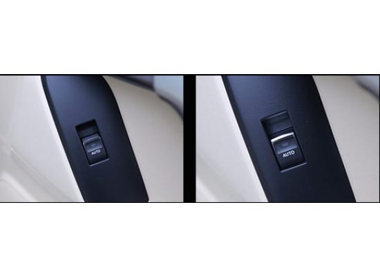 Хромированные накладки на кнопки стеклоподъемников для Toyota Land Cruiser Prado 2009-по н.в