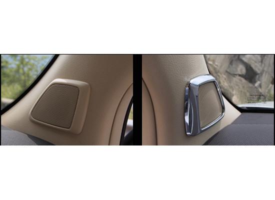 Хромированные накладки на передние динамики для Toyota Land Cruiser Prado 2009-по н.в (фото)