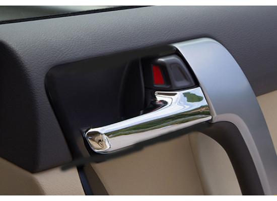 Хромированные накладки на внутренние ручки дверей для Toyota Land Cruiser Prado 2009-по н.в