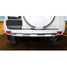 Накладка на задний бампер для Toyota Land Cruiser Prado 150 Рестайлинг 2 2017-по н.в. (фото)
