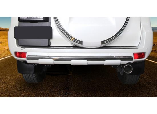Накладка на задний бампер для Toyota Land Cruiser Prado 150 Рестайлинг 2 2017-по н.в.