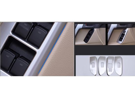 Накладки на панели стеклоподъемников для Toyota Land Cruiser Prado 2009-по н.в