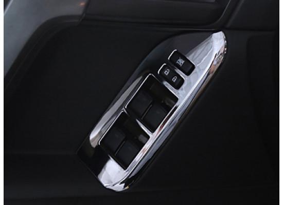 Накладки на панели стеклоподъемников для Toyota Land Cruiser Prado 2009-по н.в (фото)