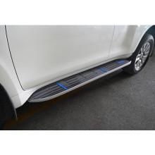 Накладки на внешние штатные пороги для Toyota Land Cruiser Prado 150 2009-н.в. (фото)