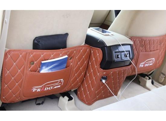 Кожаные защитные накладки на спинки передних сидений для Toyota Land Cruiser Prado 2009-н.в. (фото)