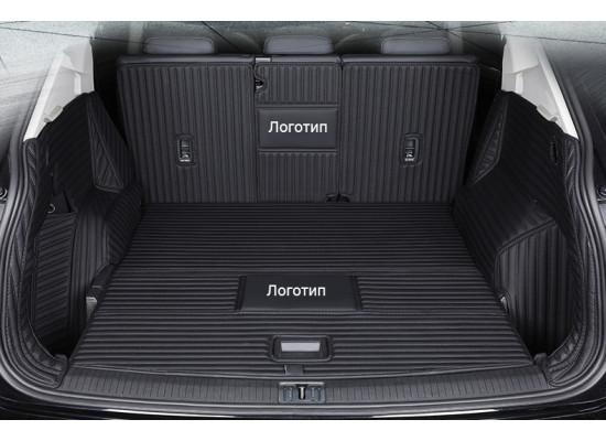 Кожаная обивка багажника для Mitsubishi Outlander 3 Дорестайлинг и Рестайлинг 2012-2015
