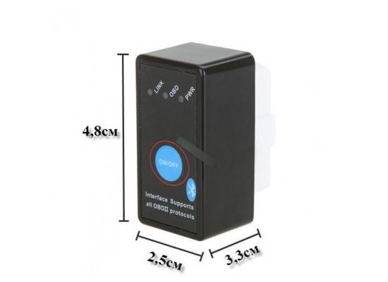 Диагностический сканер ELM327 Bluetooth Mini с кнопкой