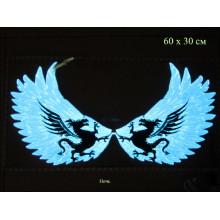 Крылья дракона Зеленый цвет 65х30