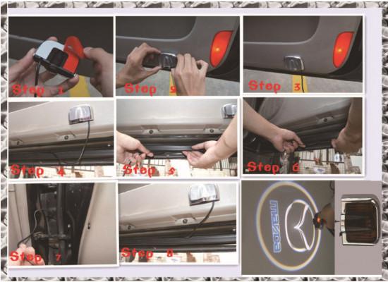 Накладные проекторы в двери