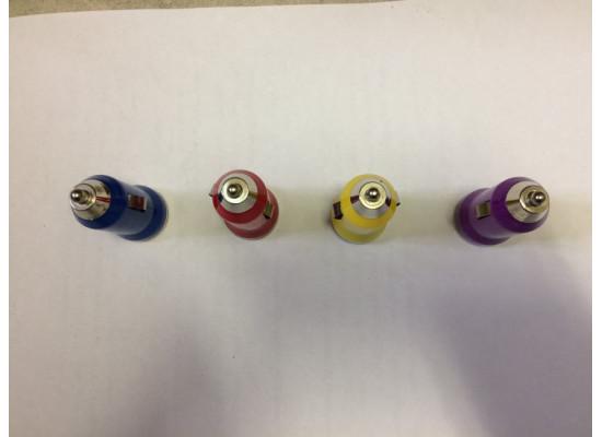 Разъем USB в гнездо прикуривателя 4 цвета